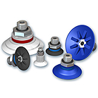 Flat suction pads with cleats, VPF series