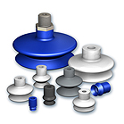 Suction cups with 1,5 bellows, VSA series