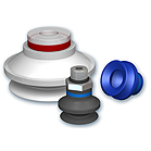 Generic suction cups with 1.5 bellows, VSAB series